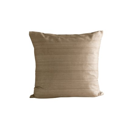 Cushion cover in silk, 50 x 50 cm, camel