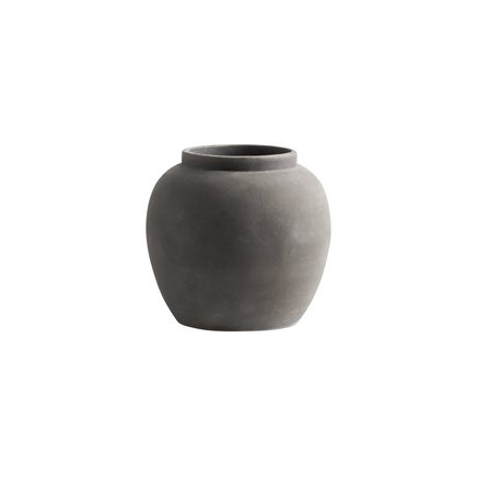 Jar, clay, round, L, D26xH24, smoke