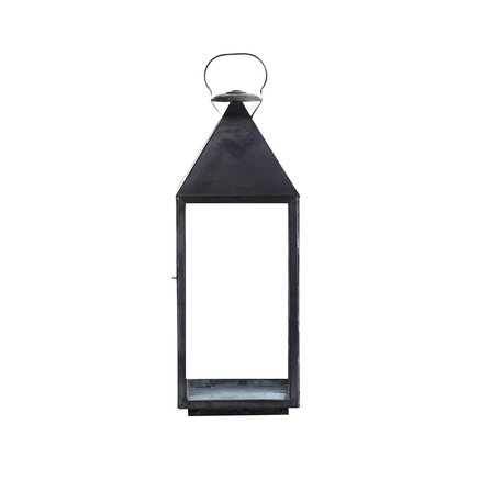 Lantern oxidized solid brass no star, H94 cm, tin
