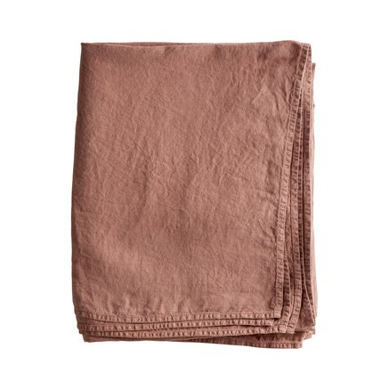 Versatile fabric in organic linen, rust