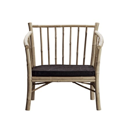 Lounge chair in bamboo with phantom mattress