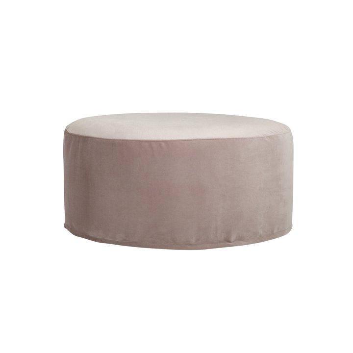 pouf oval velvet rose products tine k home. Black Bedroom Furniture Sets. Home Design Ideas