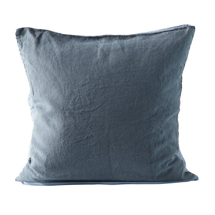 Cushion cover, 60x60 cm, 100% linen, OEKOTEX, navy