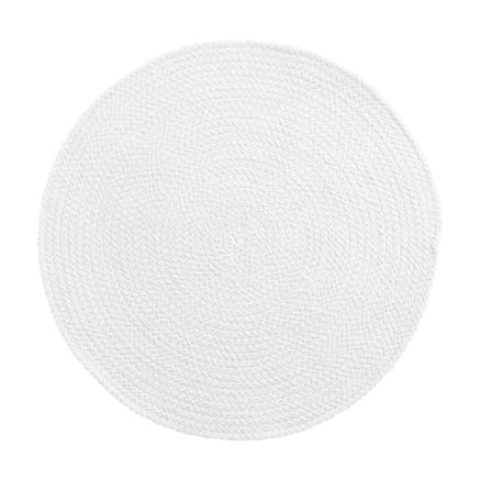 Round placemat, D 40 cm, cotton, white