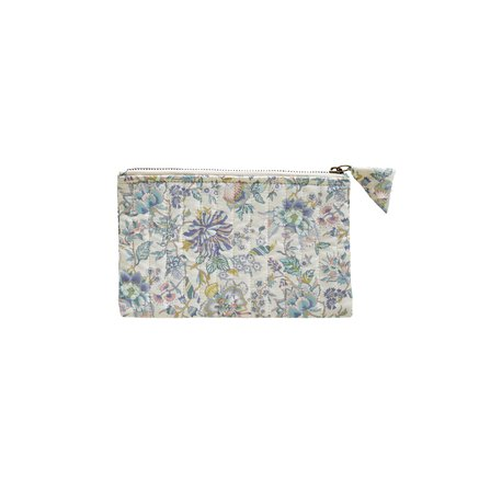 Clutch, S, 20xH12 cm, Liberty, cotton, lavender