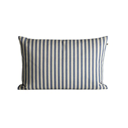 Herringbone weaved cushion cover with stripes, 40 x 60 cm, azul