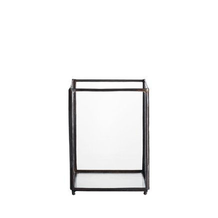Square glass lantern, small