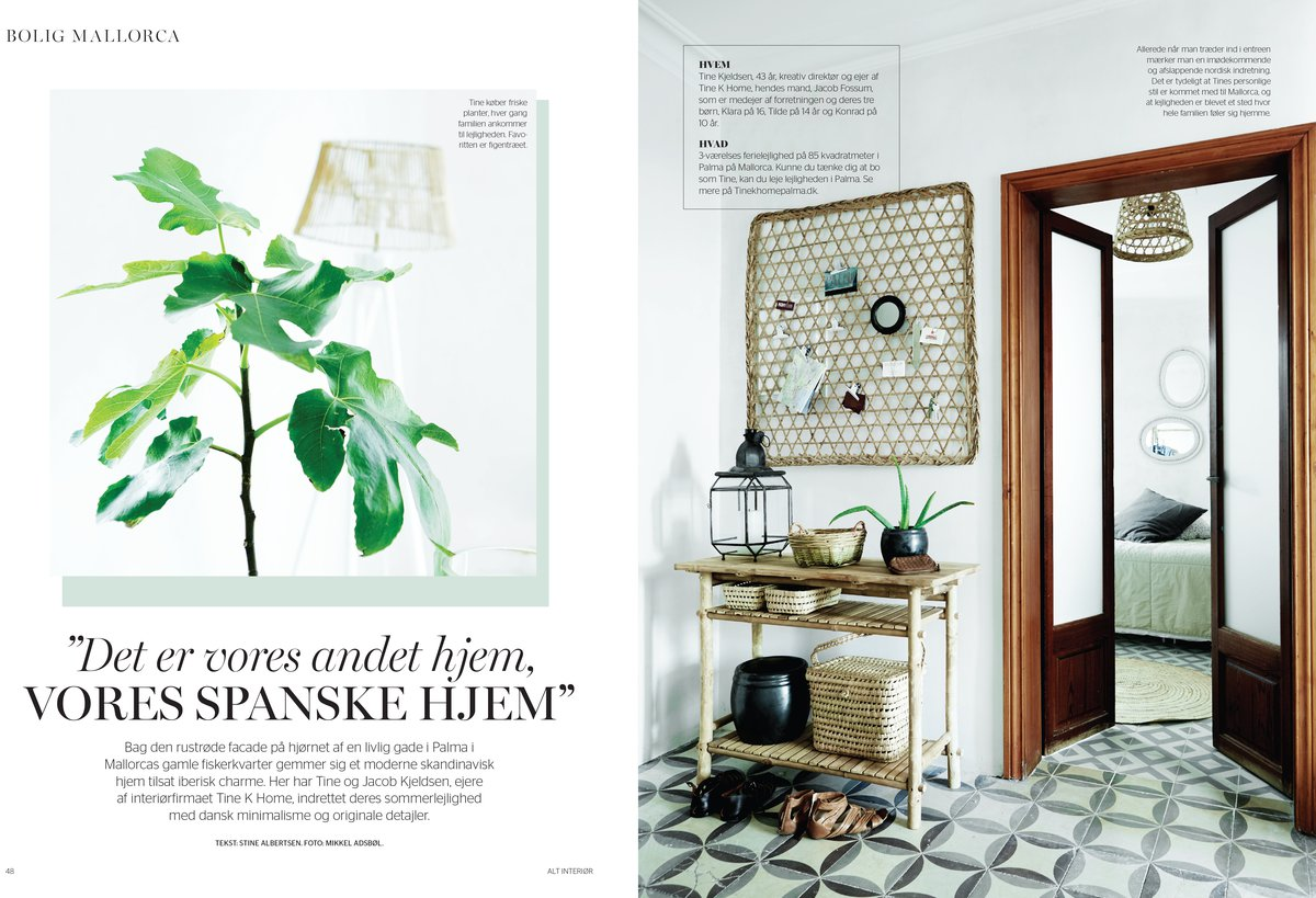 Article in 20 Private Wohnträume about tinekhome Palma apartment. Photographed and written by WWW.BUREAUX.CO.ZA