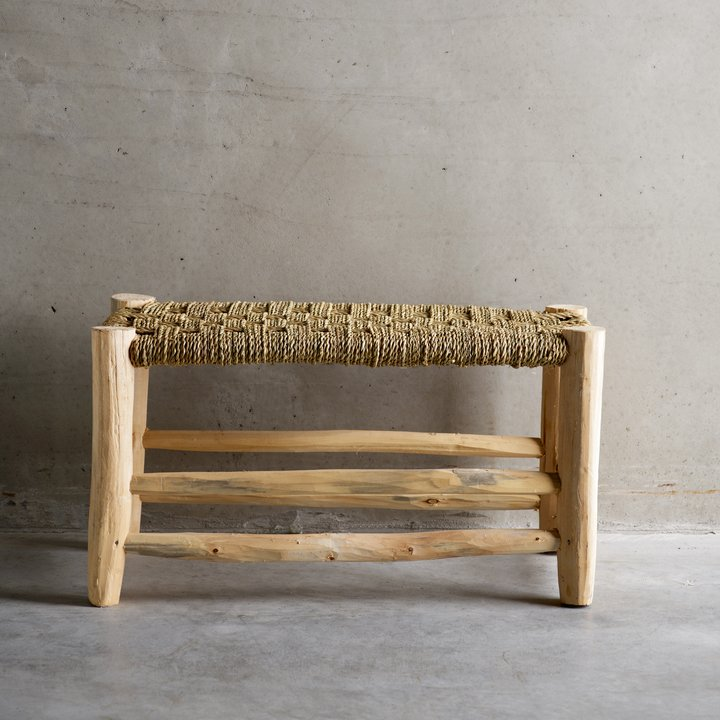 Stool w. braided seat