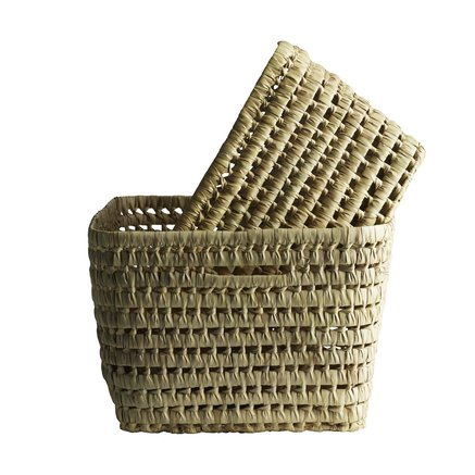 Basket, high, set of 2, nature