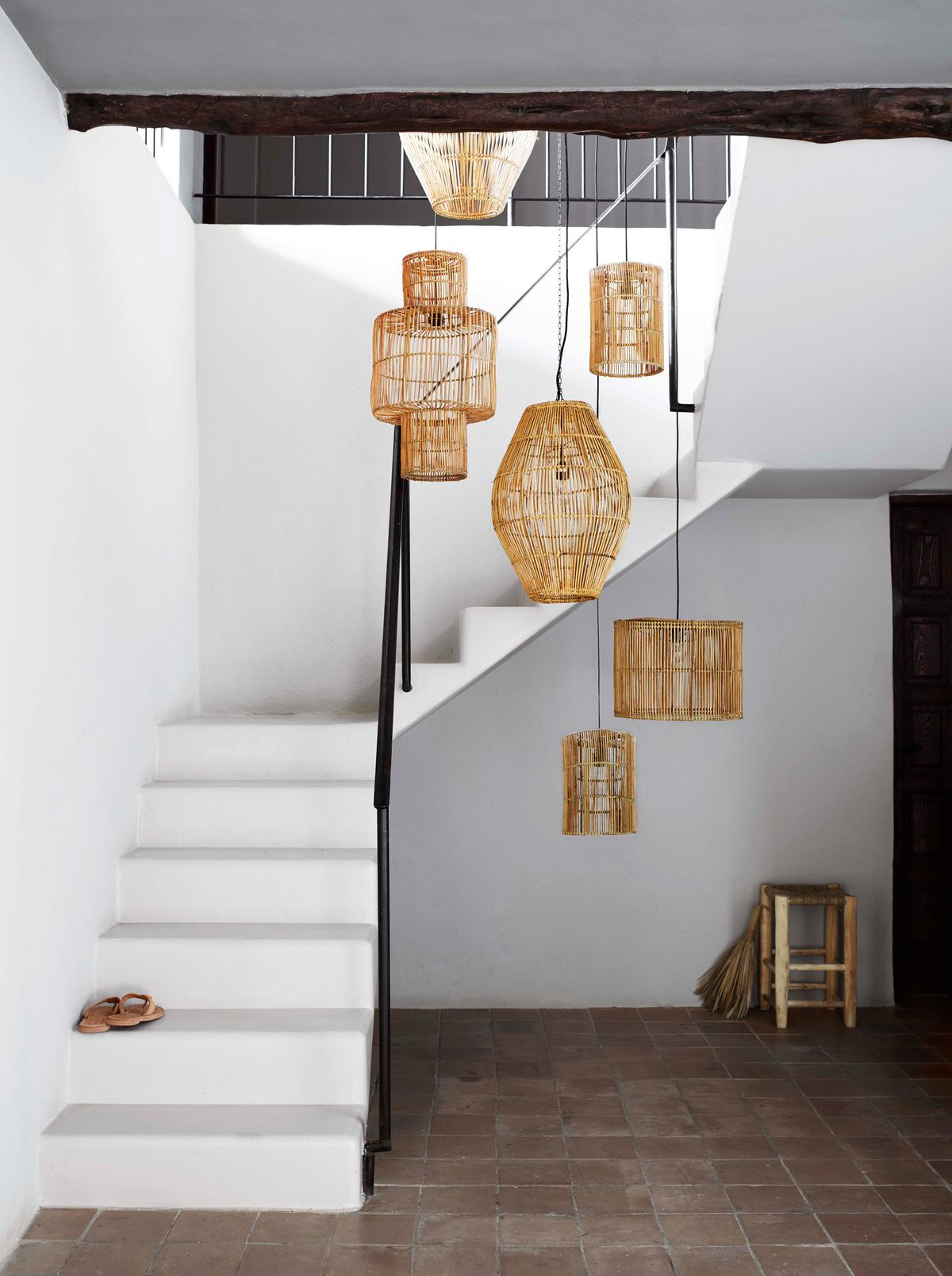 Rattan lamps by tinekhome displayed at La Granja Ibiza