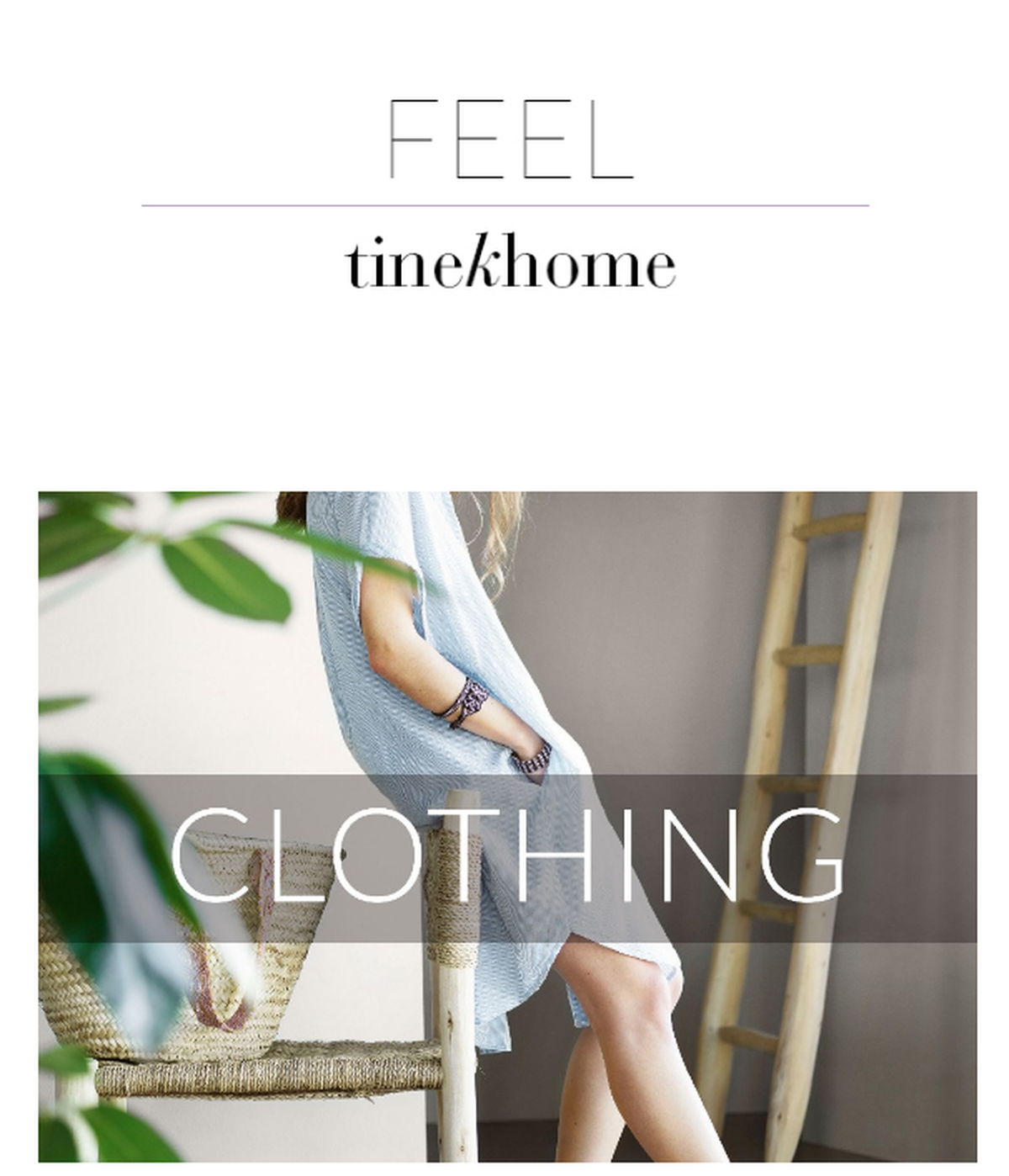 tinekhome clothing collection in Summer colors and soft fabrics