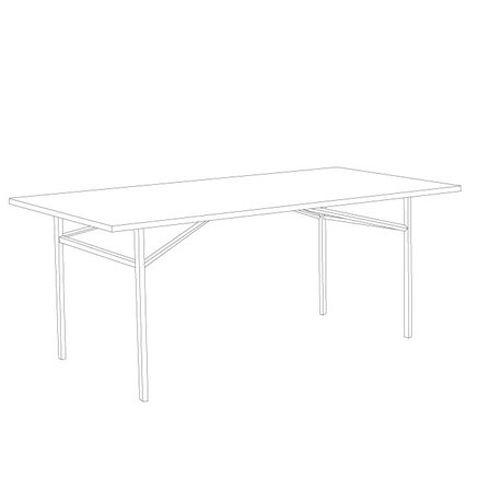 Iron table, 100 x 190 x H 75 cm, matte black