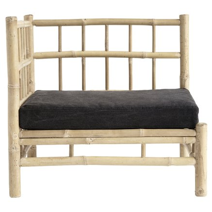Bamboo lounge corner module with phantom cushion