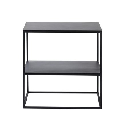 Metal table w. shelf, 50x50xH50, phantom