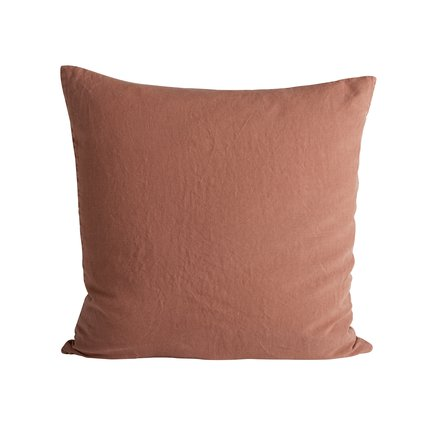 Cushion cover, 60x60 cm, 100% linen, OEKOTEX, rust