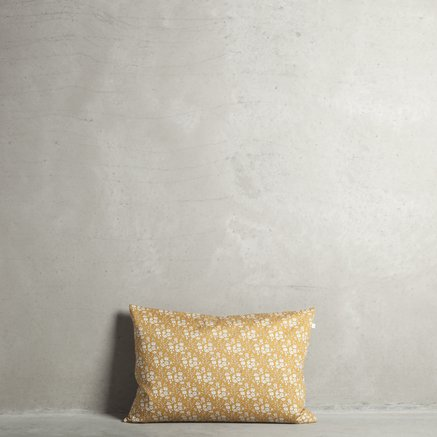 Liberty cushion cover, 40 x 60 cm, 100% cotton, curry