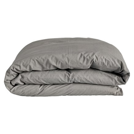 Duvet cover, 140 x 200 cm, washed cotton, grey