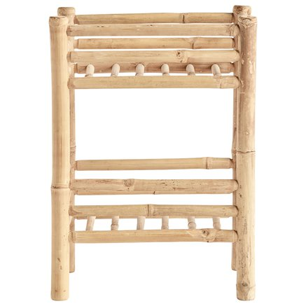 Bamboo rack with 2 shelfs, 40 x 30 x H 55 cm, nature