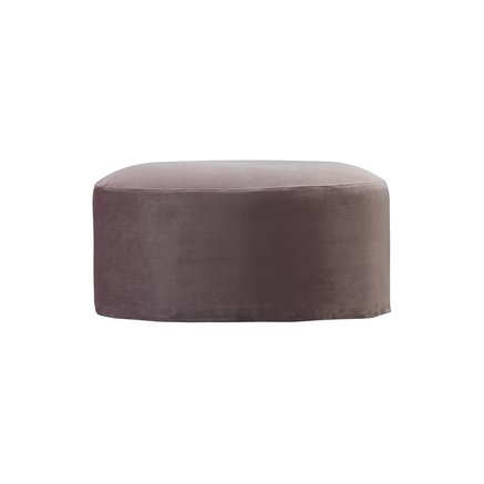 Pouf, oval, velvet, port