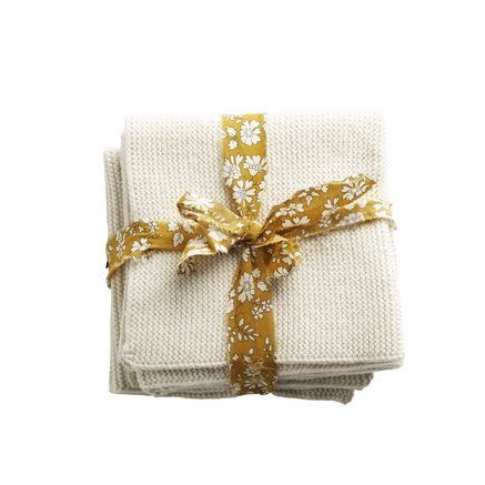 Kitchen cloth, 3 pcs, cotton, ecru