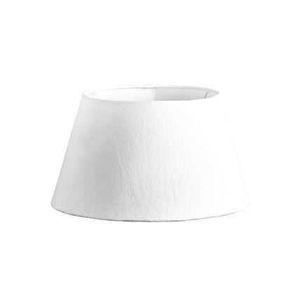 Lamp shade, white linen, medium
