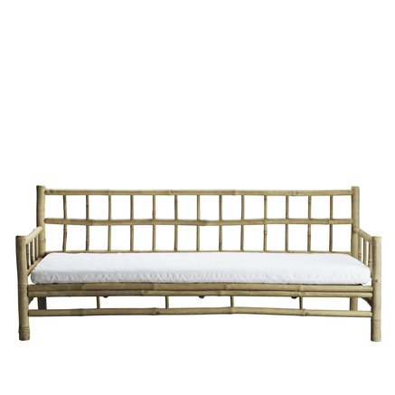 Bamboo lounge sofa with white mattress