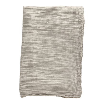 Bed throw, solid col, 190 x 260 cm, cotton, sand
