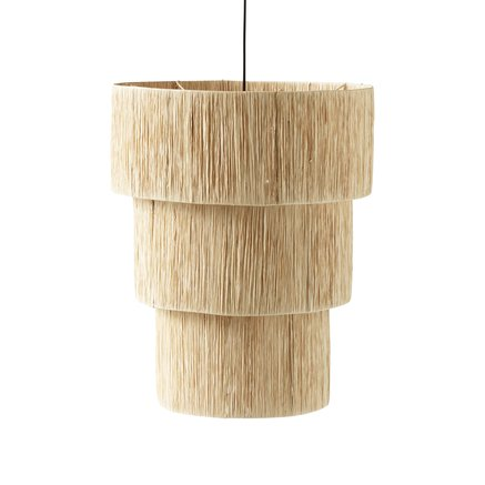 Shade for ceiling, iron/raffia, dia 60XH75 cm,