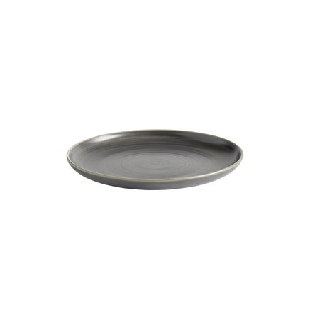 Plate, glazed stonewear, dia 20xH2,5 cm, matt grey