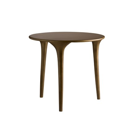 Three-legged coffee table, honey glaze, medium