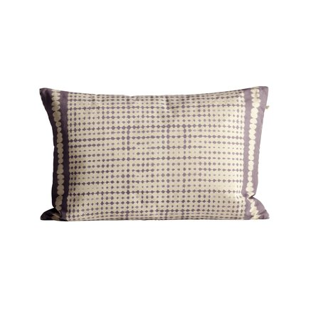 Printed cushion cover in cotton canvas, 40 x 60 cm, lavender