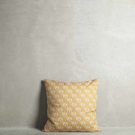 Liberty cushion cover, 60 x 60 cm, 100% cotton, curry