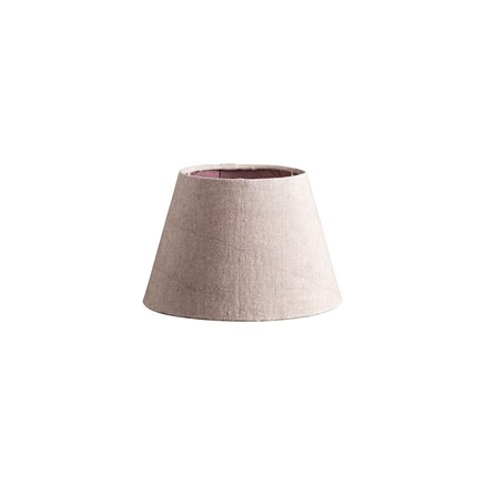 Lamp shade, rose linen, small