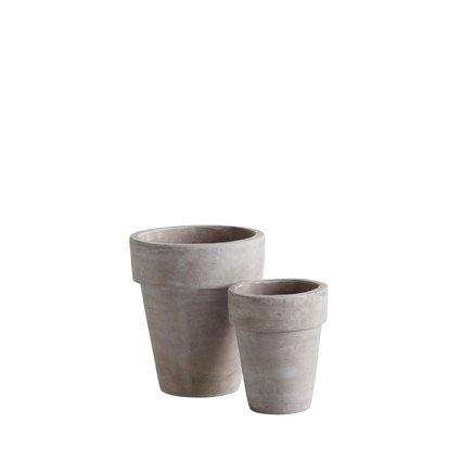 Pot in terracotta, set of 2, natural