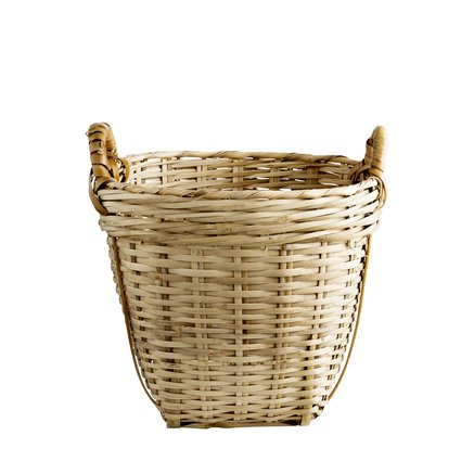 Marked basket D23xH24 w. handles, XS, natural
