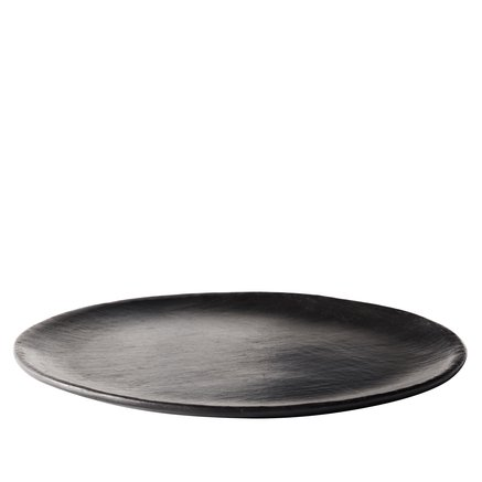Dinnerplate, stonewear, dia. 29 cm, black