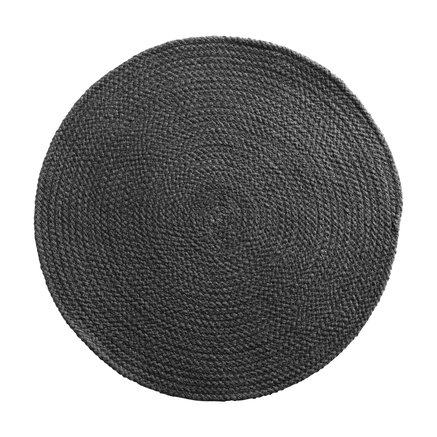 Round placemat, D 40 cm, cotton, thunder