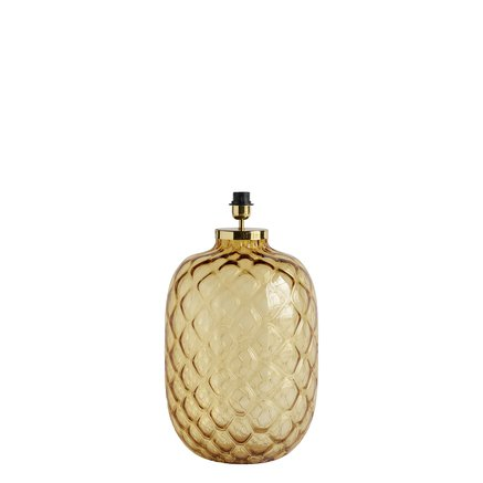 Crystal lampe, dia. 34xH50 cm, amber/brass