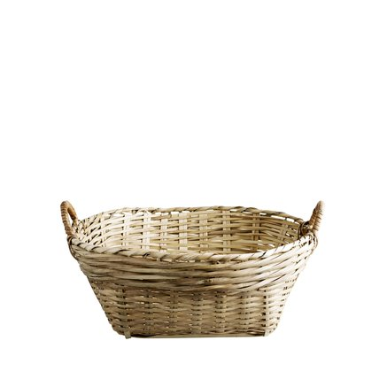 Market fruit basket, D35xH17 w. handles, natural