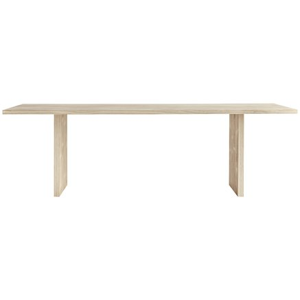 Dining table in accoya treated wood, 100 x 240 x H 75 cm, nature
