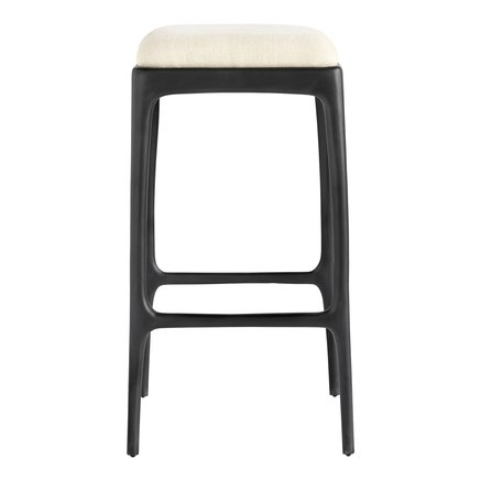 Bar stool, recycled aluminium, 40x40xH75 cm, ecru