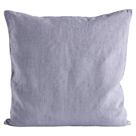 Cushion cover,pin stripe,60x60cm100%linen,lavender