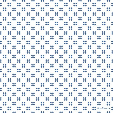 Paper napkins, w. small flowers, azul (50 pcs)
