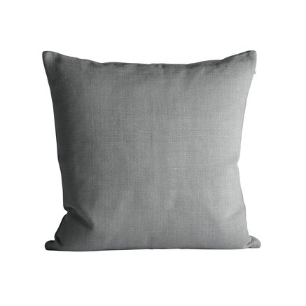 Thick woven cushion cover, 60 x 60 cm, grey