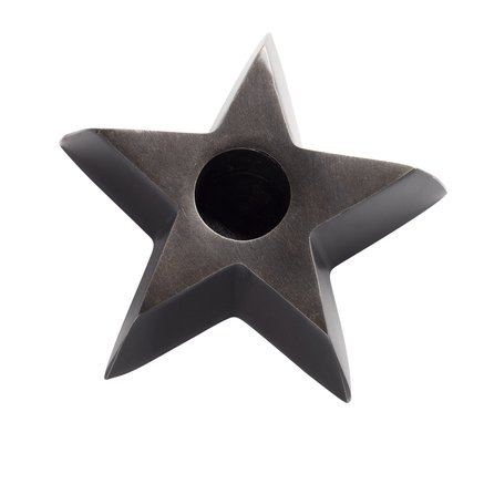 Candle holder, large star, antique brass color