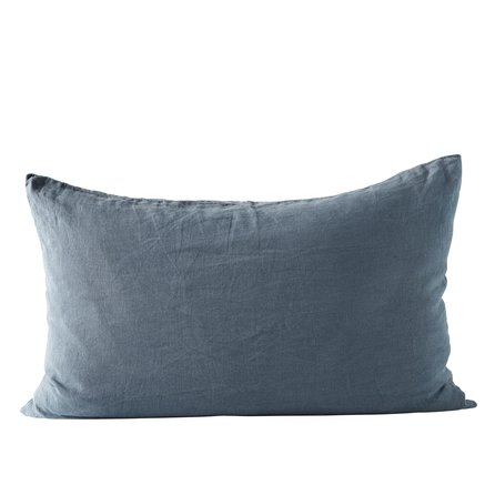 Cushion cover, 50x75 cm, 100% linen, OEKOTEX, navy