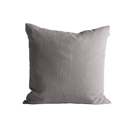 Cushion cover, w. zipper, 50x50, 100% linen, kit