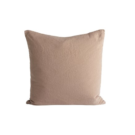 Cushion cover in linen, 50 x 50 cm, camel