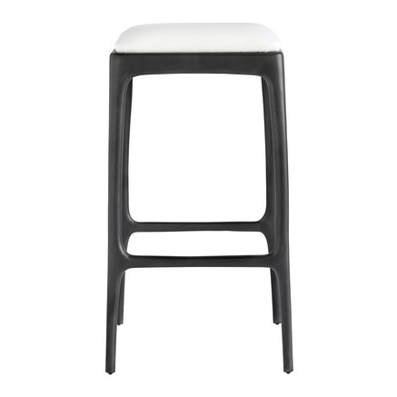 Bar stool, recycled aluminium, 40x40xH75 cm, white
